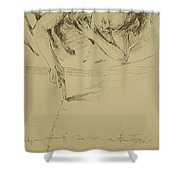 Where The World Begins Shower Curtain