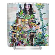 Where We Are King And Queen Shower Curtain