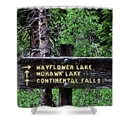 Which Way To Mayflower Lake Shower Curtain
