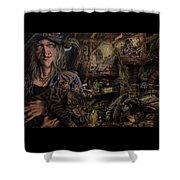 Which Witch Is Which Shower Curtain by Robert Haasdijk