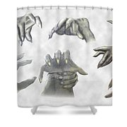 While We Sleep Shower Curtain