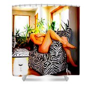 While You Are Away   Number Two Shower Curtain