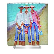 Whimsical Beach Women - The Treasure Hunters Shower Curtain