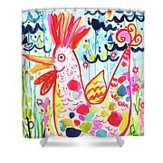 Whimsical Chicken Shower Curtain