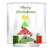 Whimsical Christmas Tree Shower Curtain