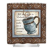 Whimsical Coffee 1 Shower Curtain
