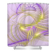 Whimsical In Purple Shower Curtain