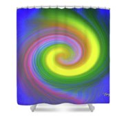 Whimsical Inward Twirls #111 Shower Curtain