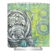 Whimsical Manatee Shower Curtain