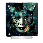 Whimsical Masquerade Shower Curtain
