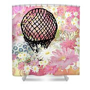 Whimsical Musing High In The Air Pink Shower Curtain