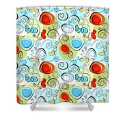 Whimsical Seamless Pattern Shower Curtain