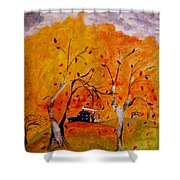 Whimsical Wind Shower Curtain