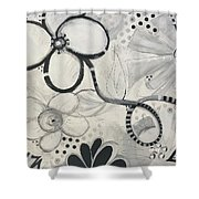 Whimsy Flower Shower Curtain