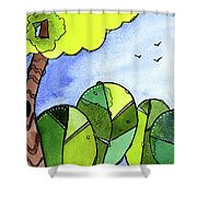 Whimsy Trees Shower Curtain