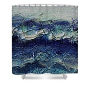 Whipped Cream Waves Shower Curtain
