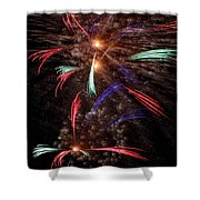 Whirley-gig Shower Curtain
