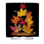 Whirling Autumn Leaves Shower Curtain