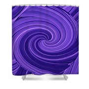 Whirlpool Blues Shower Curtain