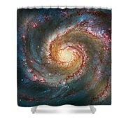 Whirlpool Galaxy  Shower Curtain by Jennifer Rondinelli Reilly - Fine Art Photography