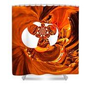 Whirls Abstract Shower Curtain