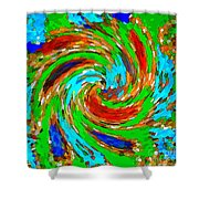 Whirlwind - Abstract Art Shower Curtain