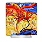 Whirlwind By Madart Shower Curtain