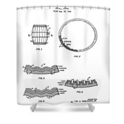 Whiskey Barrel Patent 1968 Shower Curtain
