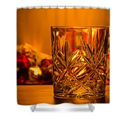 Whiskey In A Glass Shower Curtain