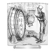 Whiskey Ring Cartoon, 1876 Shower Curtain