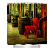Whiskey Row Shower Curtain