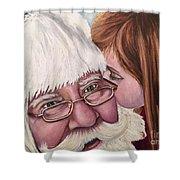Whispered Wishes Santa  Shower Curtain