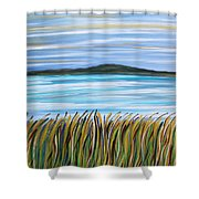 Whispering Grass Shower Curtain