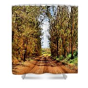 Whispering Pines Shower Curtain