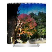 Whispering Pines Farm 2 Shower Curtain