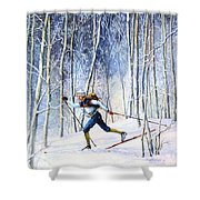 Whispering Tracks Shower Curtain by Hanne Lore Koehler
