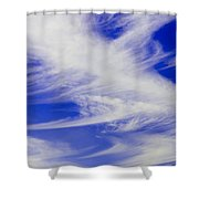 Whispy Clouds Shower Curtain