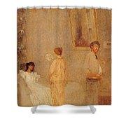 Whistler In His Studio James Abbott Mcneill Whistler Shower Curtain