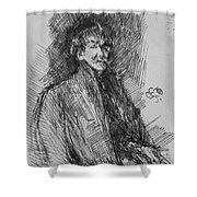 Whistler, Self-portrait.  Shower Curtain
