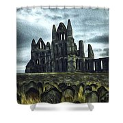 Whitby Abbey, England Shower Curtain