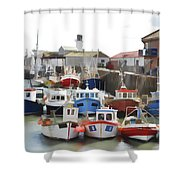 Whitby Harbour Shower Curtain