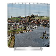 Whitby Marina And The River Esk Shower Curtain