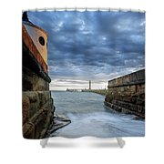 Whitby Morning Tide 2 Shower Curtain