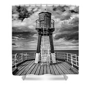 Whitby Pier Shower Curtain
