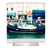 Whitby Quayside Shower Curtain