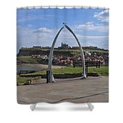 Whitby Whale Bone Arch  Shower Curtain