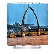 Whitby Whalebone Blue Hour Shower Curtain