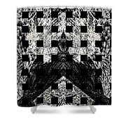 White And Black In My Hands Shower Curtain