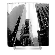 White And Black Inspiration  Shower Curtain