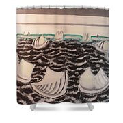 White And Grey Sailing Boats Shower Curtain